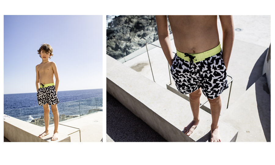 Black swim shorts - IKKS Junior