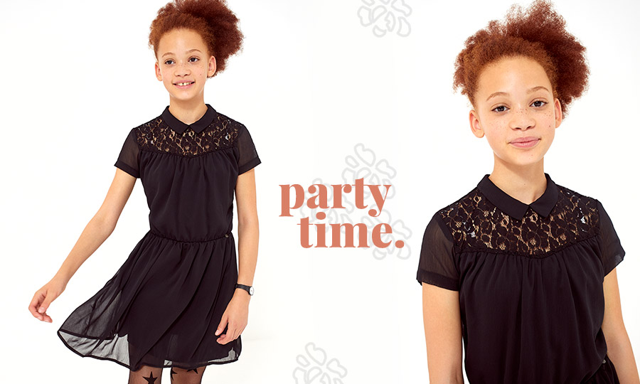Girls' black dress - IKKS Junior